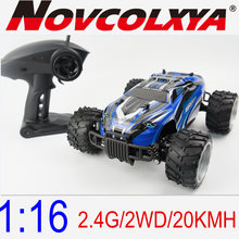 Factory Supply 2.4G/2WD Plastic High Speed Car, Electric Power Off-Road Monster 1/16 RC Car With Remote Control Made In China
