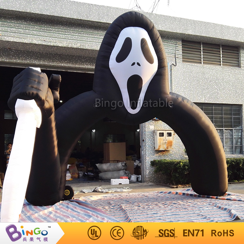 Hot Sales Giant Ghost Head inflatable arches Halloween