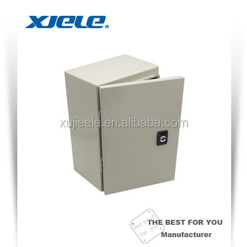 outdoor equipment enclosure RAL7032 or RAL7035 metal lock box wall mount used for electrical industry