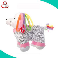 Washable and Reusable Coloring Stuffed Animal Pet Toy DIY Drawing Puppy Toys