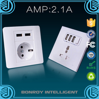 Shenzhen Bonroy portable helpful electrical socket usb 220v outlet suitable for all kinds of decoration style