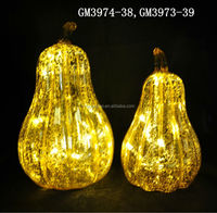 wholesale led glass pumpkin for home decoration
