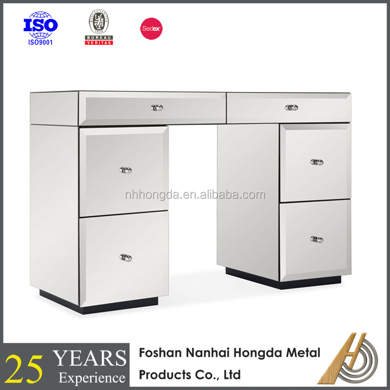 Luxury bedroom furniture bedside table mirrored night stand