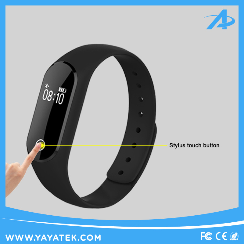 Popular Touch Screen Heart Rate Test Smart Bracelet Wrist Band with Calling and Message Reminder for iOS and Android Phone