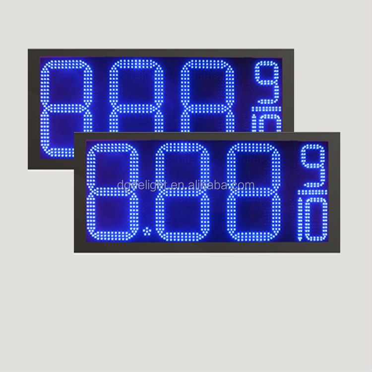 outdoor led clock time date temperature sign/ outdoor programmable led signs/ 6 led digital counter display