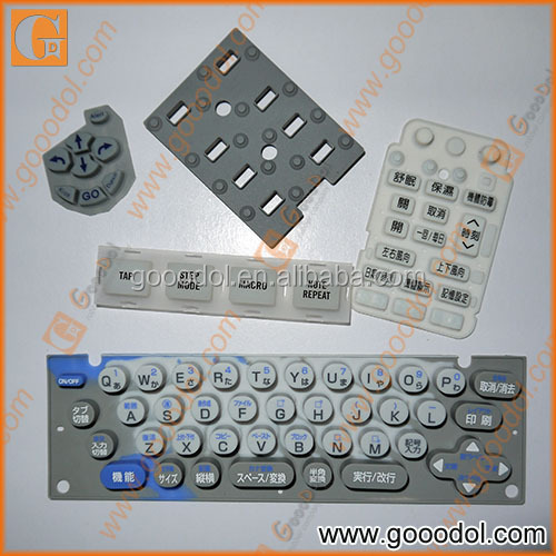 OEM silicone rubber keypad with conductive pills, keypad for remote control