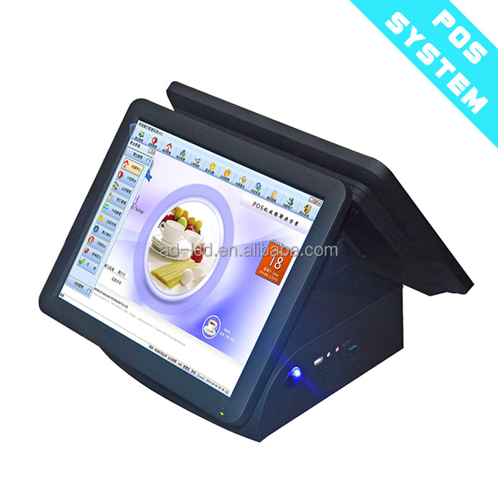 "15""15inch Dual Side POS terminal/Pos System/ Epos All In One Pos Capacitive Touch Screen Pos"
