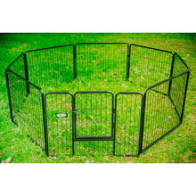 black or silver color outdoor pet dog fence/metal wire folded dog fence