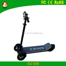 China suppliers wholesale folding 3 wheel overboard electric skateboard