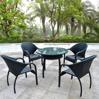 Best Selling Garden Rattan Dining Table