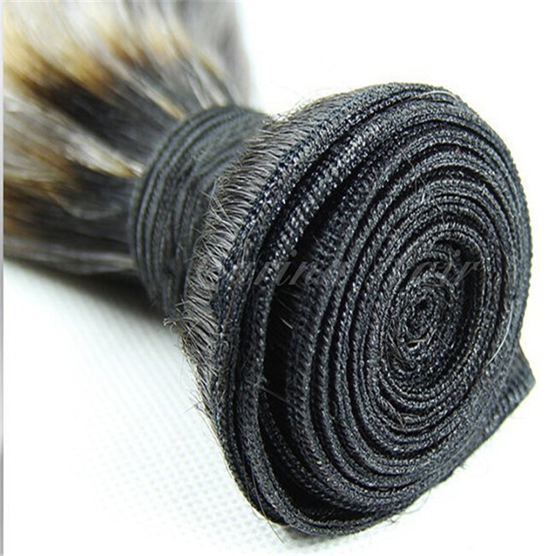 Top grade ombre color human hair bundles 1b/grey color body wave hair weving wholesale price peruvian hair products