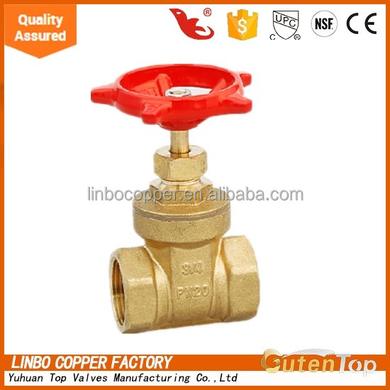 Gutentop-LB 4 inch brass stem prolong BSP thread fip gate valve for oil and gas pipeline