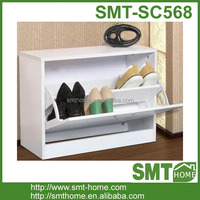 Hot sale wooden white small shoe storage cabinet