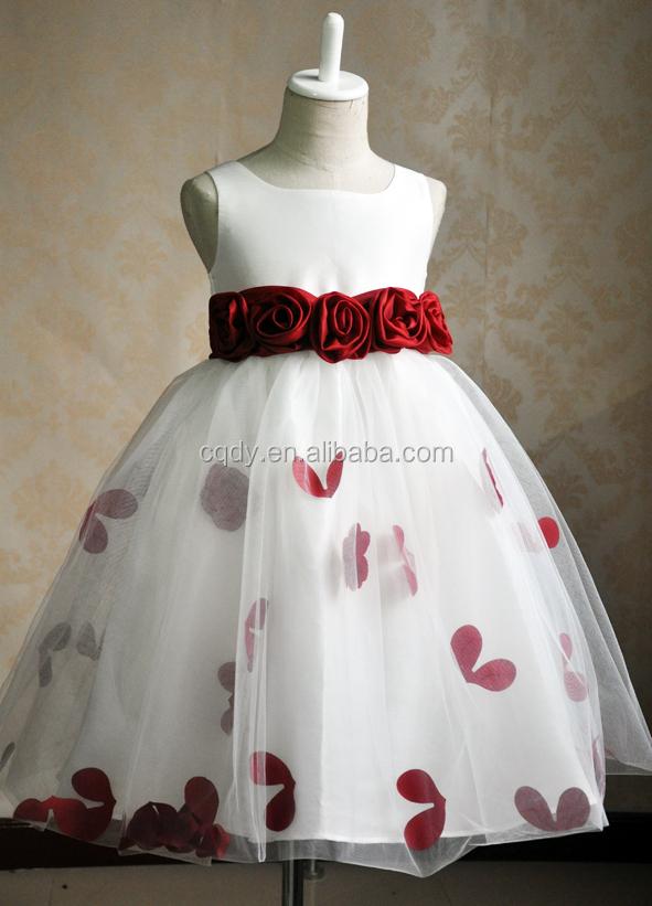 New Design White Princess Chiffon Girl Party Wear Western Dresses ...