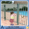 1200 High Security Black Aluminum Flat Top Pool Fence For USA CA AU NZ Market
