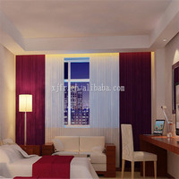 Sheer chenille jacquard fire retardant curtains for hotel C151