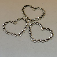 DIY alloy twisted chain heart pendant charm A3921