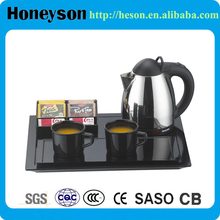 melamine coffee cup holder tray with electric kettle for hotel room