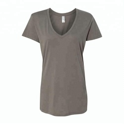 women tops v-neck modal t-shirt plain