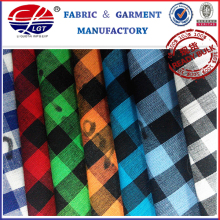 HD 2012 100% Fashion Cotton Check Fabric for Casual Shirt