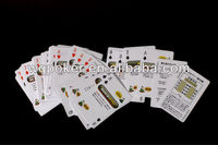 Plastic custom playing cards glossy laminated with logo