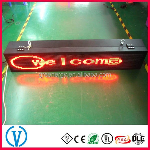 Super Slim P10 Outdoor IP65 Programable LED Moving Message Sign