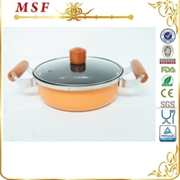 MSF 2.5L non stick single bottom carbon steel double sided grill pan
