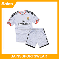 Football Kits Full Set Soccer Kit Soccer Uniform , Custom Sublimated Soccer