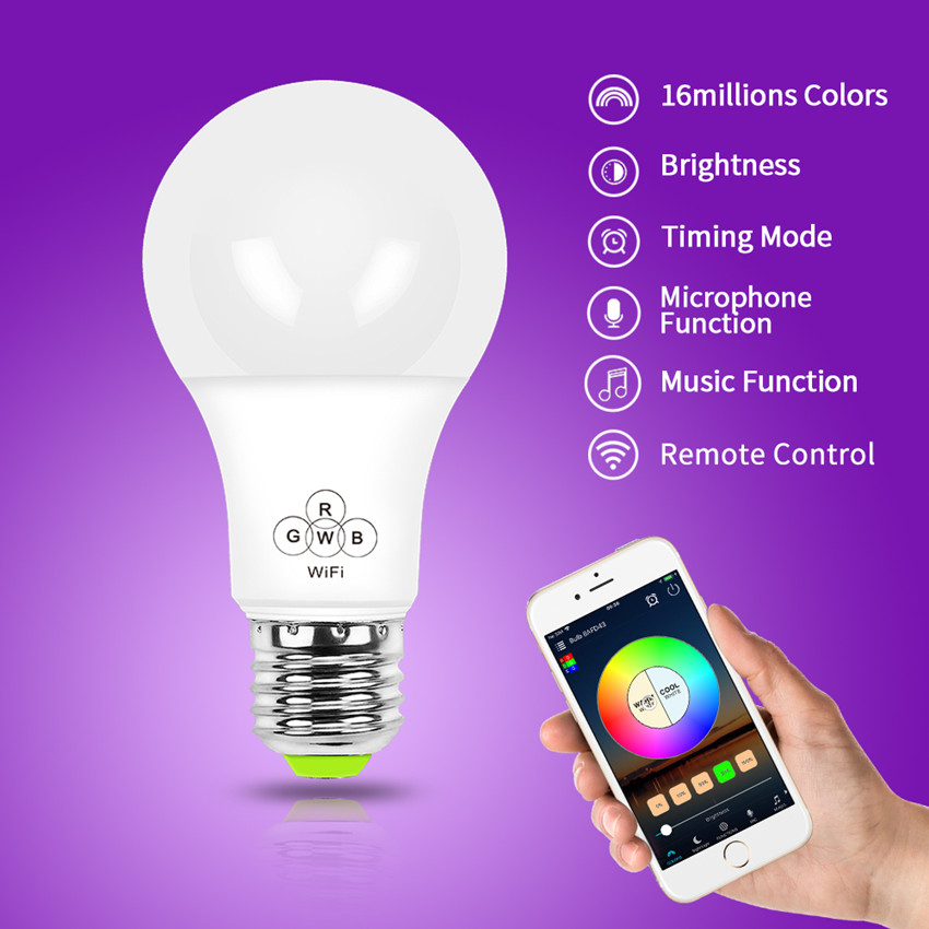 New Technology 4.5W Led Light smart bulb Compatible With Amazon Alexa And Google Home WiFi LED Bulb for  Smart Home