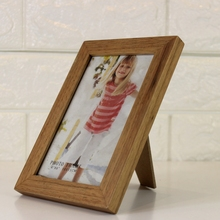 custom Natural 4R desk wood photo picture frame