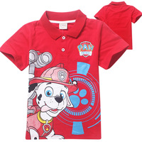 Boys Fashion Design Dog Paw Guangzhou Kids Tshirt Factory