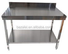 Stainless steel double work station of the workbench kitchen chopping board test bench