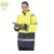 Hi vis two tone worker safety reflective winter jacket women