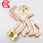 OEM customized 1/2 3/4 Bended copper pipe fitting for Gas Water heater wall hung boiler refrigeration