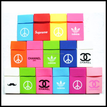 Wholesale Customized Logo Silicone Rubber Cigarette Case Cover Slim Pack Cover Case For Cigarette