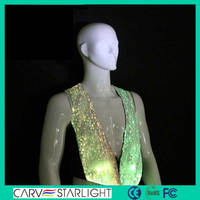 LED stage white light up in the dark night bar waiter uniforms
