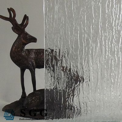 High quality clear waterfall patterned glass