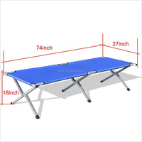 PVC coated military strong quality heavy duty one people metal folding bed