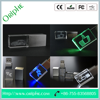 Crystal metal engraving USB Flash Drive(UDN2240)