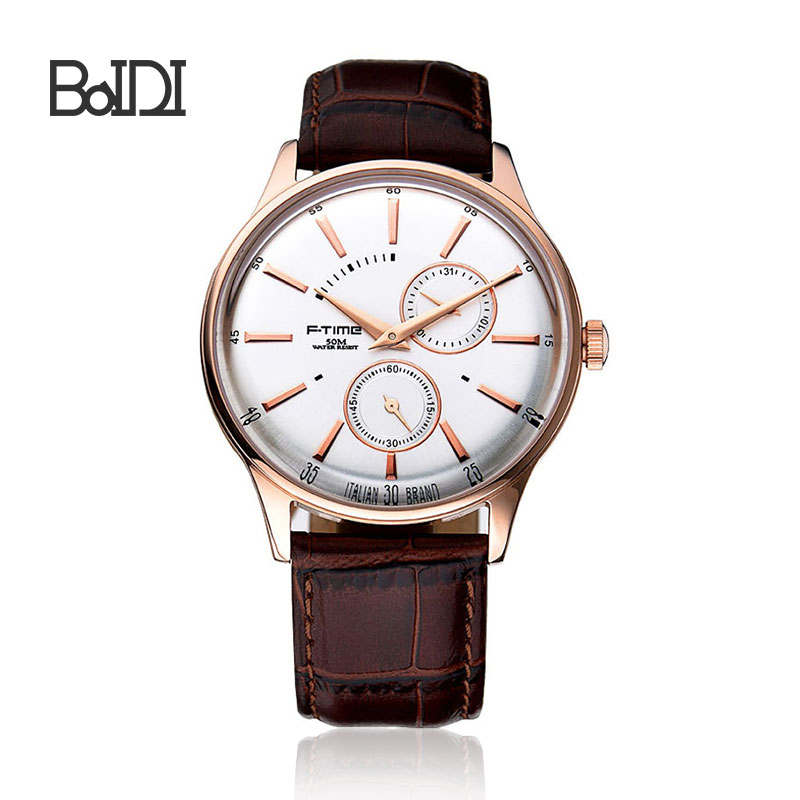 BaiDi newest design wholesale stainlesss steel watch custom logo steel mens watch high quality watch F-2006