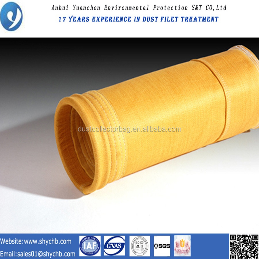 water and oil repellent p84 bag filter housing for dust collection in industry