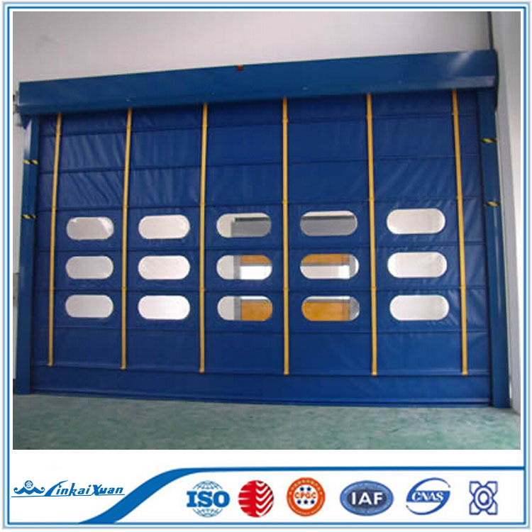 PVC fabric platic roll up door Usage rapid roll doors | automatic roll up fast acting door
