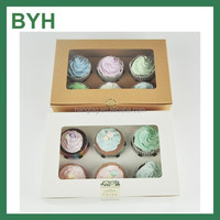 wholesale cheap 4-8 cupcakes boxes with inserts
