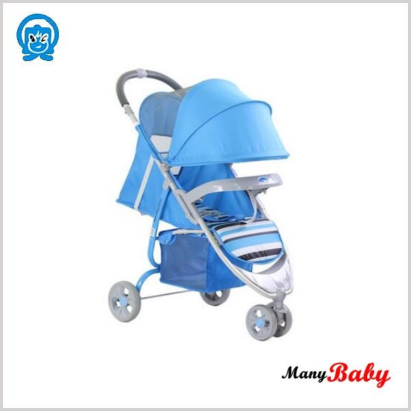 Adjustable backrest 3 big wheels carriage baby stroller baby tricycle