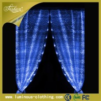 light emitting fabric frilled curtains window blind decorative beads curtains