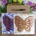 New Design With Handbag Butterfly Wooden Wedding Invitation Card