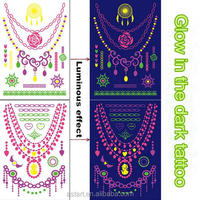 online shopping glow in the dark jewelry tattoo fluorescent in stock
