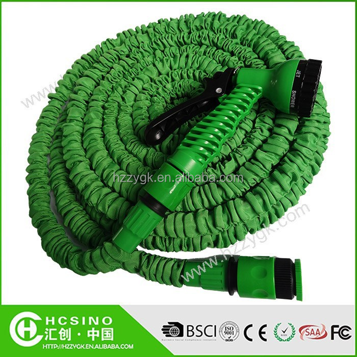"2015 Most Popular Elastic Garden Hose with Quick Clips & 3/4""-1/2"" Water Tap Adaptor"