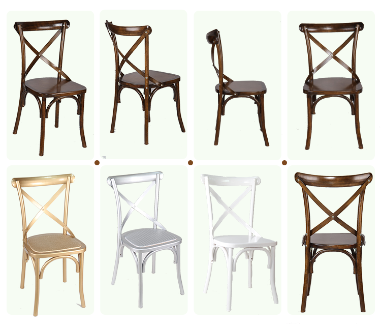 Supply Hotel Antique Wooden Vineyard Rustic X Cross Back Chairs