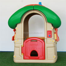Popular little cheap playground plastic castle playhouse funny themed indoor playhouses for kids